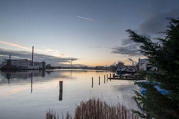 Sonnenaufgang in Zaanse von Arno van der Poel