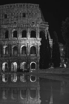 Rom - Kolosseum - Schwarz-Weiß von Teun Ruijters