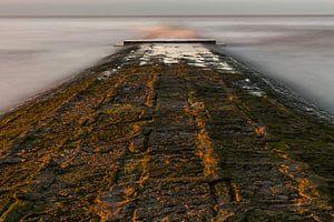 breakwater at belgian coast