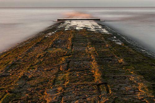 breakwater at belgian coast van