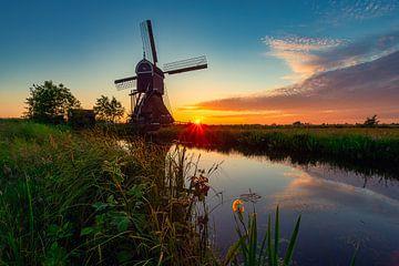 Landschaftsaufnahme Sonnenuntergang von Björn van den Berg
