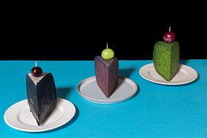 Käsekuchen? Pop-Art inspiriertes Stillleben mit Käse l Lebensmittelfotografie