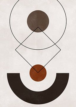 Abstrakte geometrische Kunst - skandinavischer Stil von Diana van Tankeren