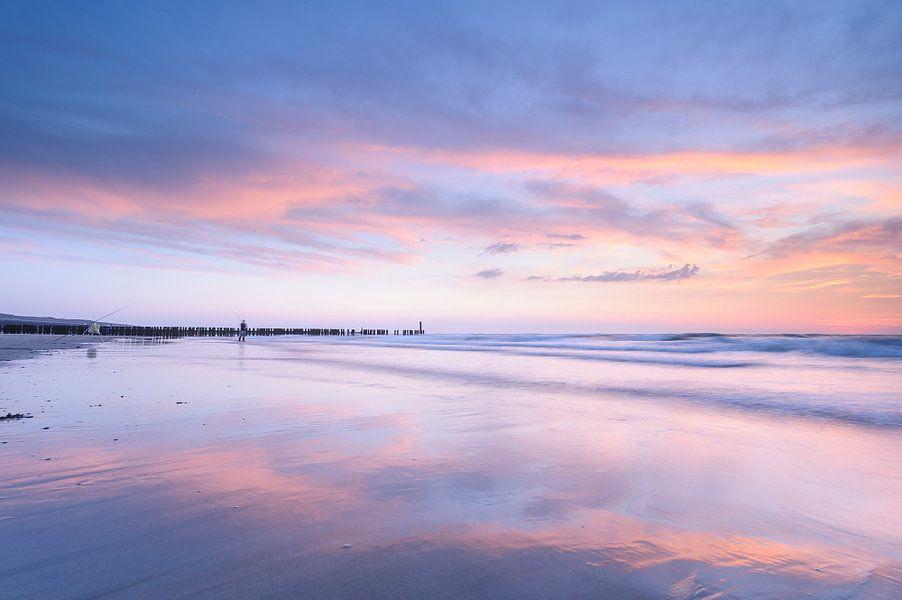 sunset beach van Arjan Keers