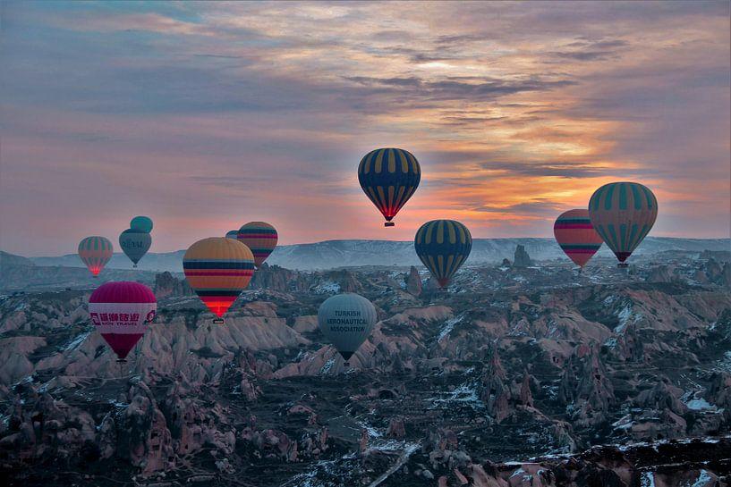 Ballonvaart Cappadocie  Turkije van Paul Franke