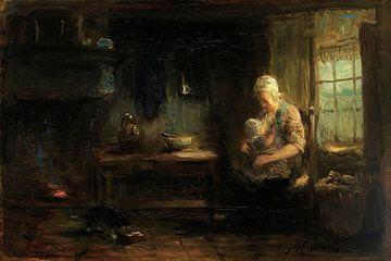 Die junge Mutter, Jozef Israëls