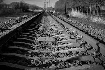 B&W-Eisenbahn von Moniek Van der zwan