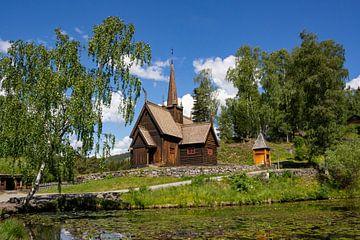 Staafkerk van Maihaugen, Noorwegen van Adelheid Smitt