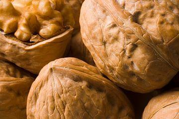 Ingezoomde afbeelding van walnoten van