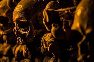 Doodshoofd Catacomben van Parijs van