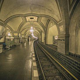 Station de métro de la Heidelbergerplatz à Berlin sur Eus Driessen