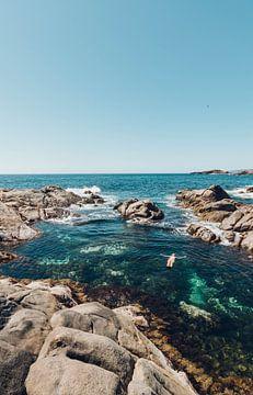 Unbeschwertes Schwimmen in einem Naturpool von Guido Boogert