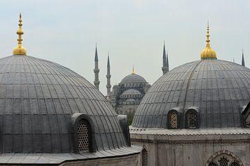 Blauwe Moskee in Istanboel van Gonnie van de Schans