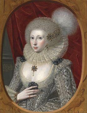 Portrait de Lady Montagu, Robert Peake l'Ancien sur