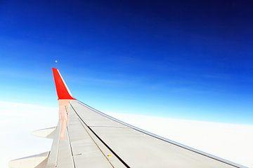 Blick aus dem Flugzeug von Frank Herrmann