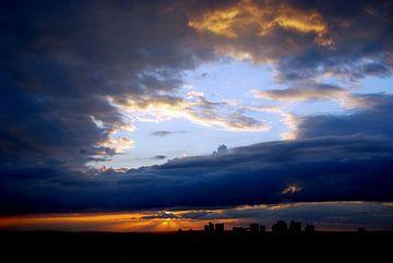 Parijs tijdens zonsondergang van Ferdy Griffioen