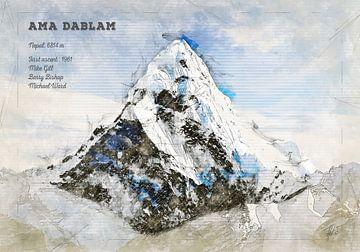 Ama Dablam, Nepal von Theodor Decker