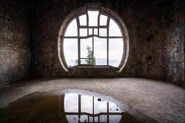 Fenêtre Art Nouveau abandonnée. sur Roman Robroek