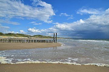 Plage et dunes près de Zoutelande sur Zeeland op Foto