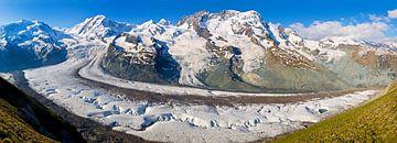 Panorama Gornergletscher van Anton de Zeeuw