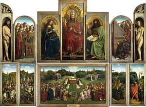 Jan van Eyck. Aanbidding van het Lam Gods