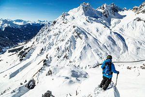 De skiër en zijn domein van