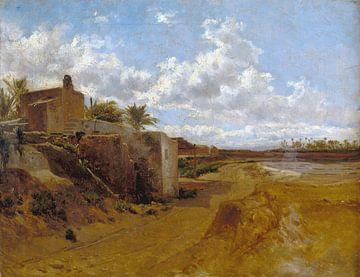 Carlos de Haes-Een boerderij, een antiek landschap