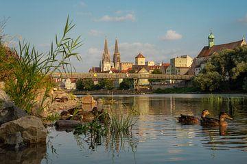 Regensburg, Duitsland, prachtige zonsondergang van Martin Podt