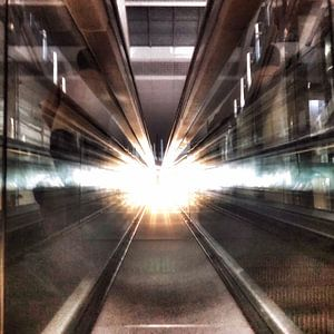 Reflecties op Dubai International Airport