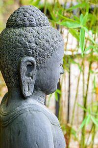 statue of buddha in zen garden