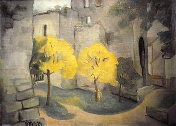 Ansicht in Visby, Gotland. Dorothea Maetzel-Johannsen. 1925 von Atelier Liesjes