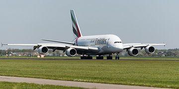 Emirates Airbus A380 vlucht EK147 van