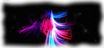 Abstract rood wit blauw van Maurice Dawson
