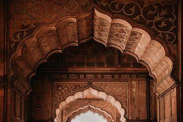 Des arches dans un beau palais en Inde sur Yvette Baur