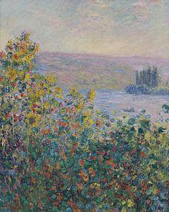 Blumenbeete in Vétheuil, Claude Monet von