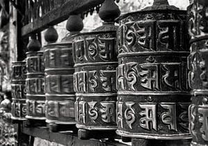 Gebedsmolens in Nepal