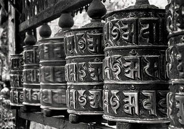 Gebedsmolens in Nepal van JPWFoto