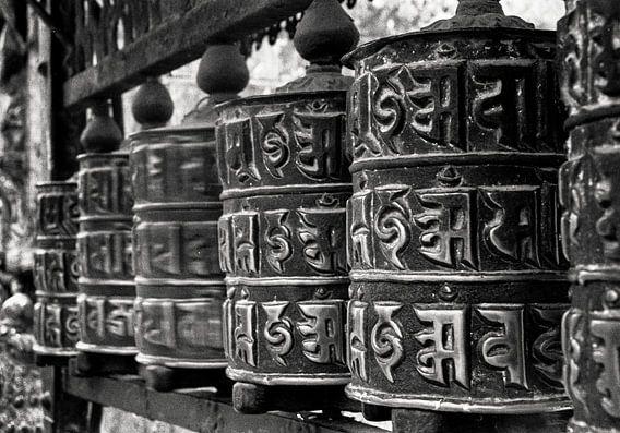 Gebedsmolens in Nepal van Jean-Paul Wagemakers