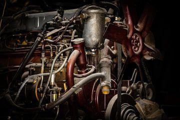 Historische vrachtwagenmotor van videomundum