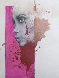 Gezicht in het roze van
