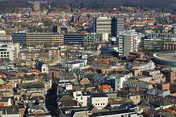 Centrum van Arnhem vanuit de lucht van Marcel Rommens