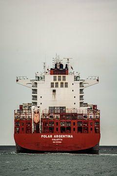 Containerschip onderweg op de Maasvlakte. van scheepskijkerhavenfotografie