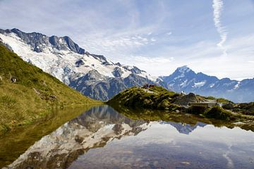 Pure reflectie van Mount Cook - Nieuw Zeeland van Be More Outdoor