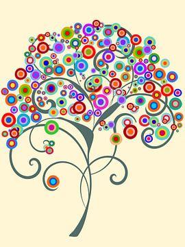 Gekleurde boom van Angel Estevez