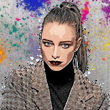 Frau vor Farbwand von Tilo Grellmann | Photography