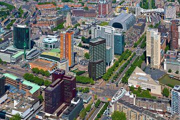 Aérienne Churchillplein Rotterdam sur Anton de Zeeuw