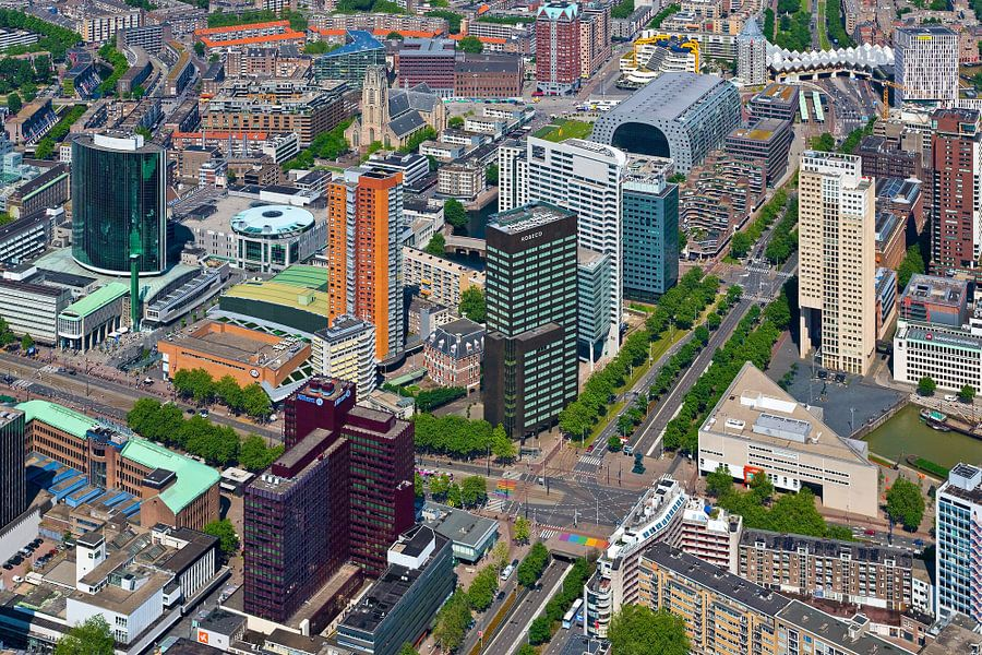 Luchtfoto Churchillplein te Rotterdam