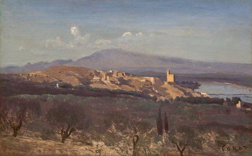 Villeneuve-les-Avignon, Jean-Baptiste-Camille Corot von Meesterlijcke Meesters