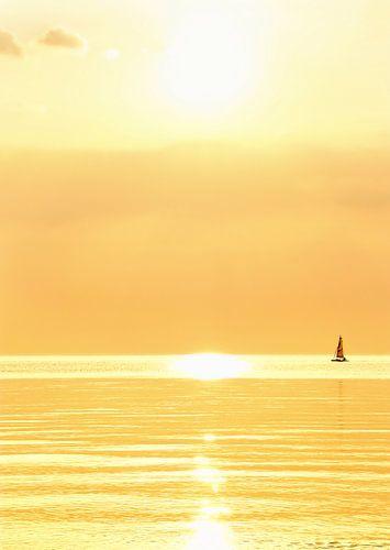 gouden zonsondergang van Claudia Moeckel