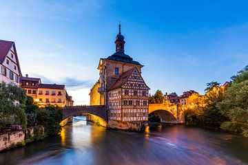 L'ancien hôtel de ville de Bamberg la nuit sur Werner Dieterich